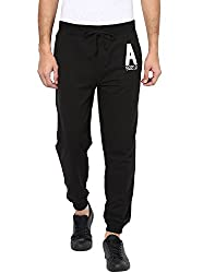 American Crew Mens Black Jogger With Embroidery -XL (ACTP241-XL)