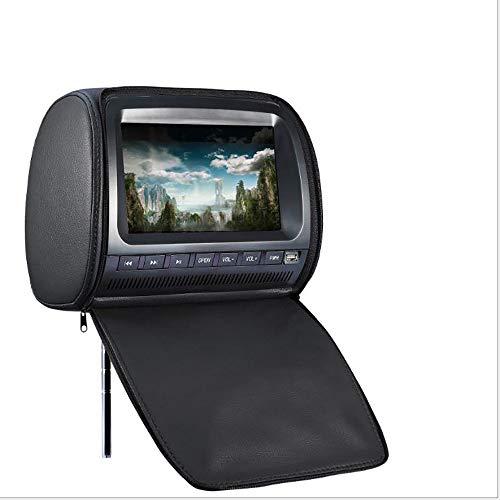 VrsaMwbbmml Auto Kopfstütze 9 Zoll [2019] Digitaler High-Definition-DVD-Großbildschirm Audio-Video-TV-Player unterstützt das MP5-Format (Schwarz) -