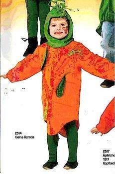 Kostüm Möhre Kind - MÖHRE Gr. 128 KOSTÜM KARNEVAL KINDER