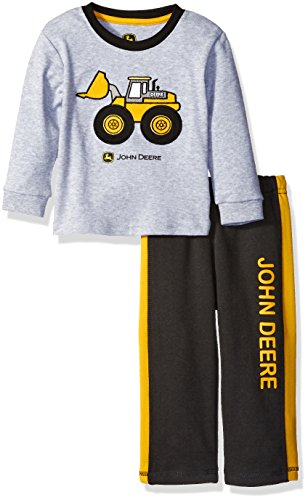 8e6f191946c0f 62% OFF on John Deere Baby Boys  Construction Pant and Tee Set