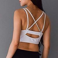 WANYHHA Gather Brassiere Hermoso Back Sports Underwear Pequeño Pecho Steel Rim Bra Fitness Yoga Running Sports Ladies, Negro, L