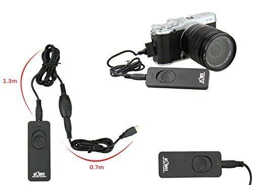Kabel Fernauslöser mit zusätzlichem Verlängerungskabel für Fujifilm Finepix S1, X-M1, X-E2, X-E-2s, X-A1, XQ1, X-T1, X-T2, X-T10, X30, X100T (Anschluss RR90)