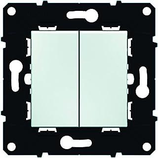 Arnould ARN51001 Doppelwechselschalter-Einsatz 10 A Raum Evolution Stück, weiß