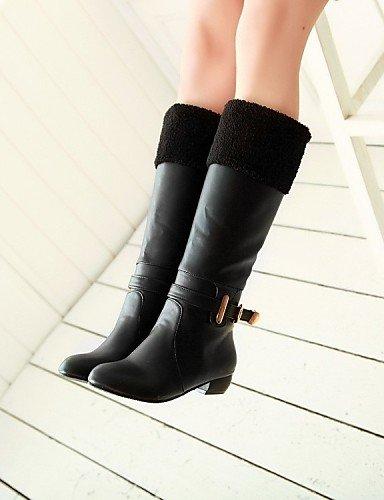 ShangYi Mode Frauen Schuhe Damenschuhe Stiefel Mode Outdoor / Büro & Karriere / and Low Heel OthersBlack / braun / &9001 Schwarz