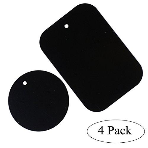 UKCOCO 4Teile-Metall-Ersatz Metall-Universal-Set mit Aufkleber für Telefon-Halterung Magnetverschluss Halterung Telefon Magnet Halterung Schutzhülle