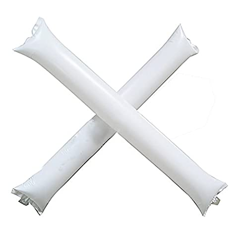 HuaYang Inflatable Thunder Stick Bang Cheer Boom Noise Maker Basketball Football Clapper - White