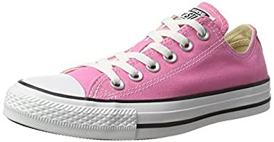 Converse Chuck Taylor All Star Ox - Unisex Canvas Sports Trainer Pink Size: 9 Child UK