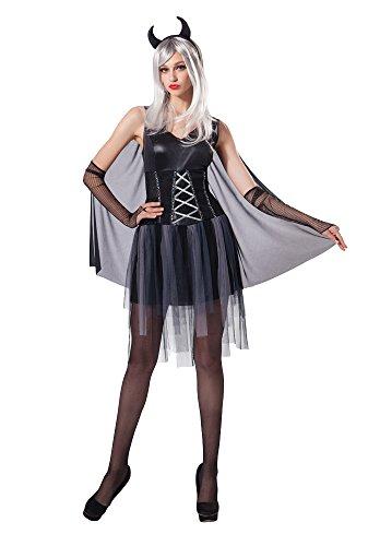 Bristol Novelty AC208Damen Black Devil Halloween Fancy Dress Kostüm (UK 10–14) (Mesh Devils)