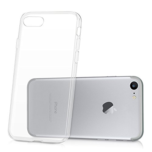 kwmobile Hülle für Apple iPhone 7 / 8 - TPU Silikon Backcover Case Handy Schutzhülle - Cover klar Ananas Strauch Design Rosegold Transparent .Transparent