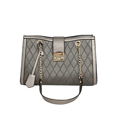 Schnalle Hobo Handtasche (MSFANGDAN Umhängetasche Frauen Mode Lingge Lock Schnalle Kette Handtasche Damen Hobos Freizeitaktivitäten Große Kapazität Shopping Tote Vintage Top-Handle Tasche)