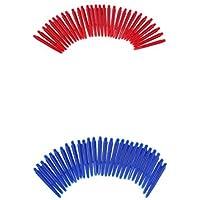 Magideal 60 Piezas de Nilón Universal 2ba Ejes de Dardos Medianos 43 mm