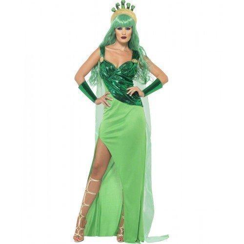 Damenuhr Medusa Roman griechische Göttin Monster Halloween Kostüm Outfit (UK 8-10)