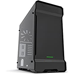Phanteks PH-ES515ETG_BK Midi-Tower Black computer case - computer cases (Midi-Tower, PC, Aluminium, Steel, ATX,EATX,Micro-ATX,Mini-ITX, Black, 3 mm)