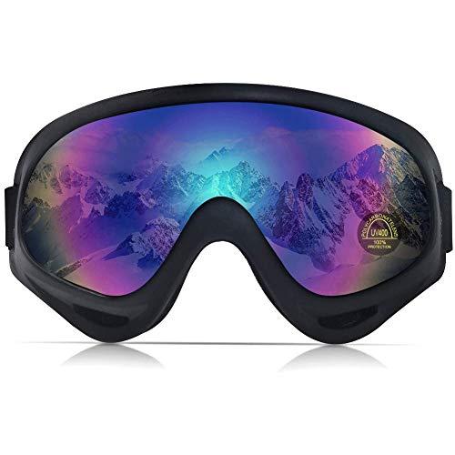 PHYLES Lunettes de Ski, Masques Snowboard pour Adultes et Enfants - Protection UVA 100% (Multicolore)