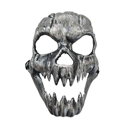Scary Ghost Maske Halloween Kostüm Masken Full Face Masken Party Kostüme Prop Masquerade Zubehör Face Decor - Silber