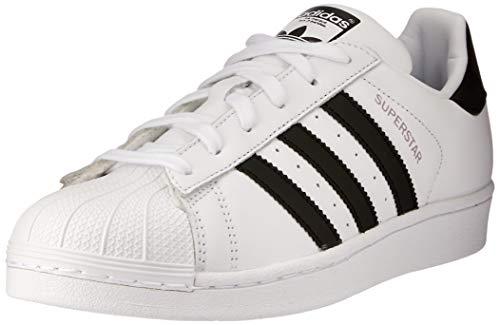 adidas Damen Superstar W Fitnessschuhe, Mehrfarbig (Ftwbla/Negbás/Vissua 000), 40 EU -