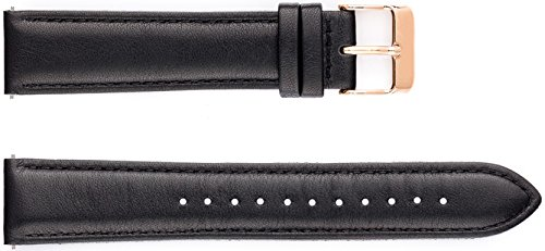 Uhrband CLASSIC, Uhrband Farbe:schwarz/rosé-gold