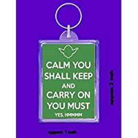 yoda special keyring double sided novelty funny new keychain key ring