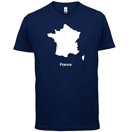 France / Frankreich Silhouette - Herren T-Shirt - 13 Farben Navy
