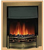 Dimplex Danesbury Inset Electric Fire Antique Brass 2kw c/w Real Coal Effect