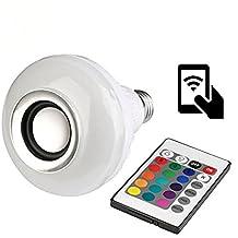 muitobom muitobom 1pcs inteligente de control de bluetooth Music Audio Altavoz LED Color RGB bombilla luz lámpara E27