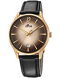 Lotus Watches Reloj Análogo clásico para Hombre de Cuarzo con Correa en  Cuero 18404 2 34e8e02a8d2d