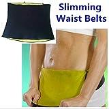 ZURU BUNCH Cotton and Polyjrsey Shaper Slimming Belt for Men and Women (Black, Large)