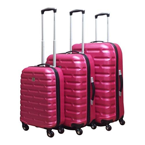 Benzi - hartschale - Kofferset - 3 Teilig - Bricks - rosa