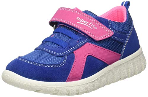 Superfit Baby Mädchen SPORT7 Mini Sneaker, (Blau/Lila 81), 23 EU (Sneaker Mädchen Weite)