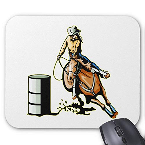 Horse Barrel Racing Mouse Pad