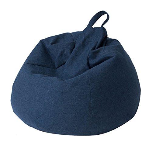 Fauteuil Lounger Canapé Salon Salon Petit appartement amovible et lavable chaise paresseuse (Couleur : Bleu foncé)