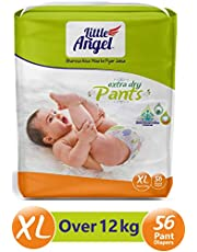 Little Angel Baby Diaper Pants, X-Large - 56 Count