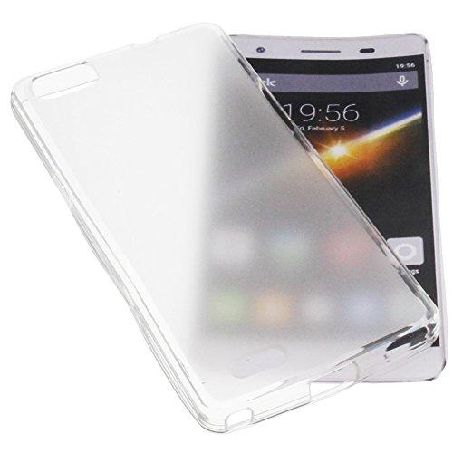 Custodia per cellulari Cubot X16S in gomma TPU di colore bianco semitrasparente