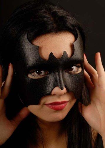 Magic Box Int. Schwarze Fledermaus Mädchen Superhelden Kostüm Augenmaske
