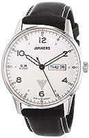 Junkers G 38 - Reloj de cuarzo para hombre, con correa de cuero, color negro de Junkers