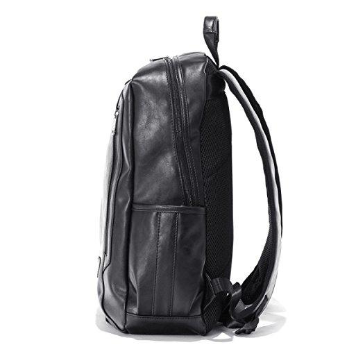 Mode-Rucksack-College-Art-einfaches Beiläufiges Männliches Paket,Black Brown