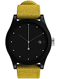 Elemental Sand - Reloj unisex con correa de lona intercambiable.