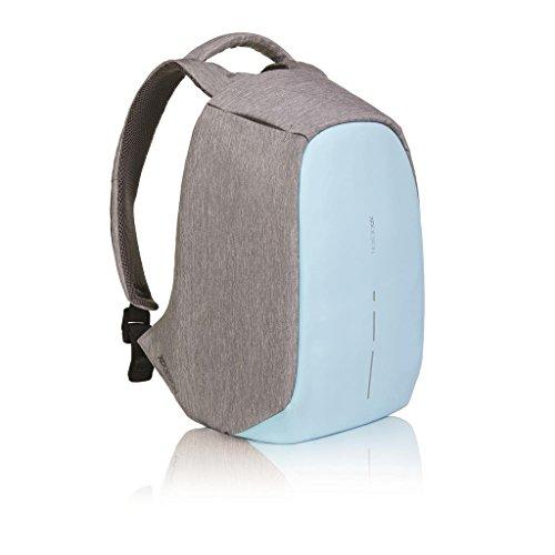 XD Design Bobby Compact Zaino Anti Taccheggio Pastel Blu Portatile USB (Unisex)
