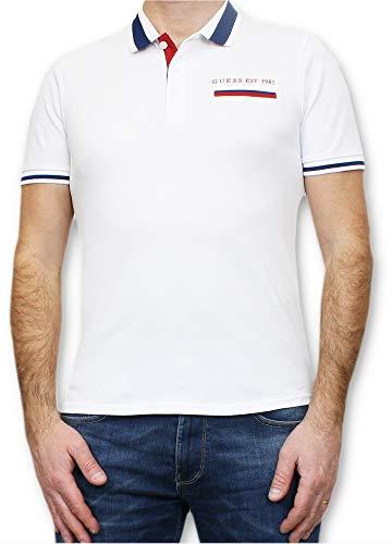 Guess Jeffrey T-Shirts & Poloshirts Herren Weiss - M - Polohemden