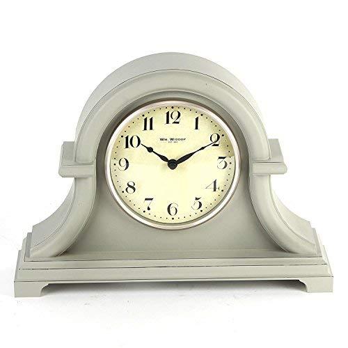 Tradicional vintage gris Retro de madera reloj de mesa nuevo en caja