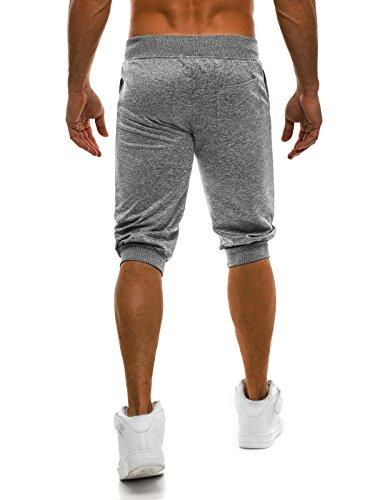 OZONEE Uomo Jogging Tempo libero Shorts Pantaloncini sport Al ginocchio Pantaloncini Corti Bermuda RED FIREBALL 1157S grigio_SS-7131