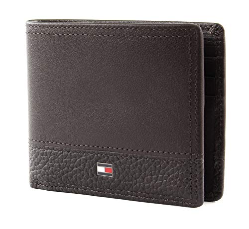 Tommy hilfiger th business mini cc wallet, portafoglio uomo, beige (testa di moro), 1x1x1 centimeters (w x h x l)