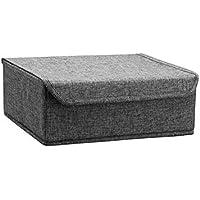 Preisvergleich für Nlj-YMS Faltbarer Aufbewahrungsbox Stoff Multifunktions-Finish-Box Grau