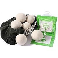 6XL lana Laundry Dryer Balls ammorbidente naturale organico lana palla ecologico riutilizzabile ammorbidente naturale + 1x essiccante per armadio