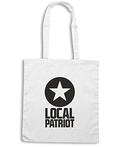 T-Shirtshock - Borsa Shopping OLDENG00164 local patriot star Bianco