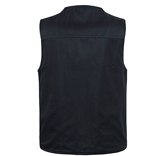 Zhhlaixing Guter Stoff Mens Summer Thin Multifunction Both Sides To Wear Fishing and Photography Vest Gilet Gift for Father's Day Dark Blue