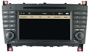 mgnav mg2708b Autoradio MERCEDES-BENZ CLASSE C W203Facelift (17,7cm (7pouces) Système de navigation multimédia (DVD, BT, USB, SD, GPS Menu comme l'original)