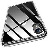 Humixx iPhone XR Hülle,Hochwertigem 9H Gehärtetem Anti-Gelb Glas Rückseite mit Soft TPU Weich Rahmen Schutzhülle,Ultra Dünn Transparent Crystal Clear Handyhülle für iPhone XR - Klar