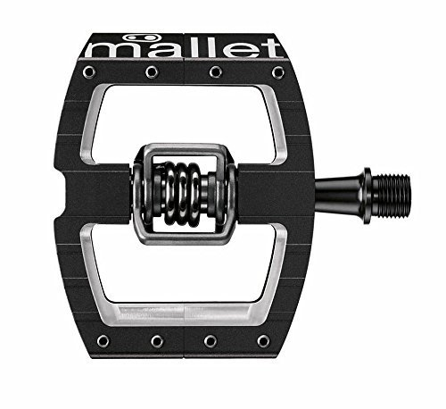 Crank Brothers Mallet DH Race Pedals - Black , Cromo Axle by Crank Brothers -