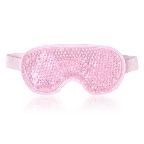Wiederverwendbare kühlende Augenmaske mit Gelperlen für heiße